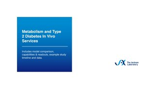 JAX Metabolism & Type 2 Diabetes In Vivo Services