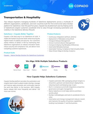 Copado for the Transportation and Hospitality Industry