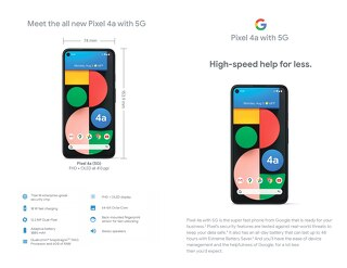 Meet the all new Pixel 4a with 5G