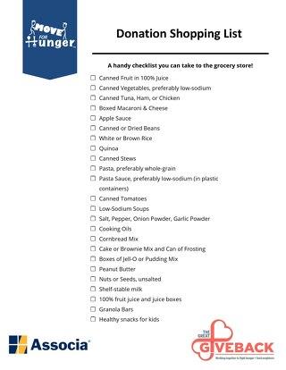 Associa Shopping List