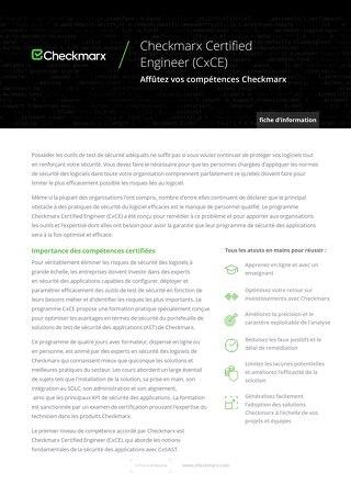 Checkmarx French Certified Engineer Datasheet - June 2020