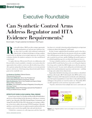 Can Synthetic / External Control Arms meet regulatory and HTA requirements?