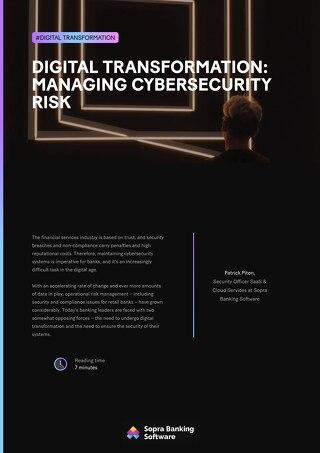 Digital transformation managing cybersecurity risk