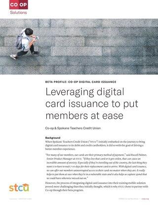 Spokane Teachers Credit Union Digital Card Issuance Beta Profile