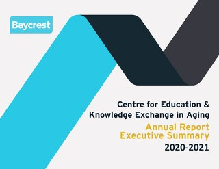 Baycrest Centre for Education Annual Report 2020-2021