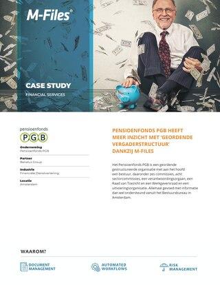 Case Study: Pensioenfonds PGB