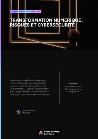 Transformation numérique risques et cybersécurité