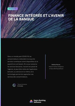 Finance intégrée et l'avenir de la banque