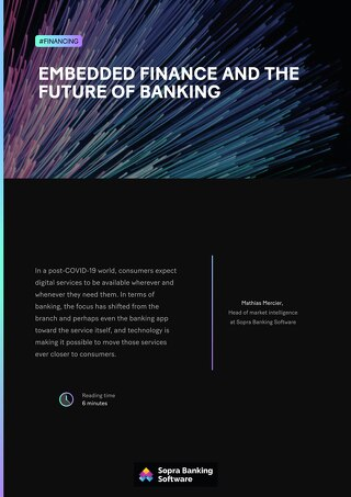 Embedded finance and the future of banking