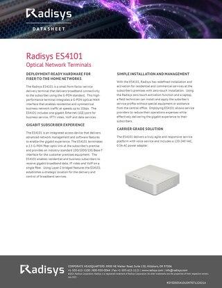 Radisys ES4101 Optical Network Terminals