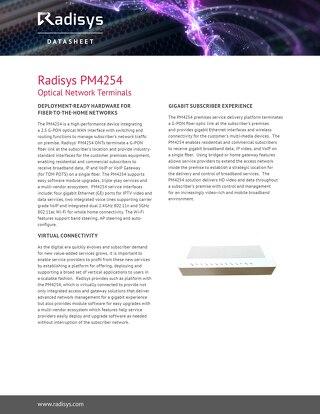 Radisys PM4254 Optical Network Terminals