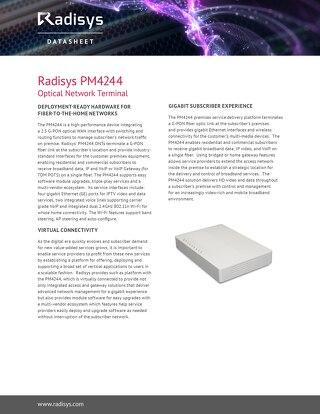 Radisys PM4244 Optical Network Terminal