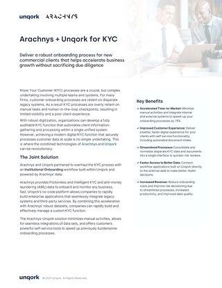 Unqork + Arachnys: Know Your Customer