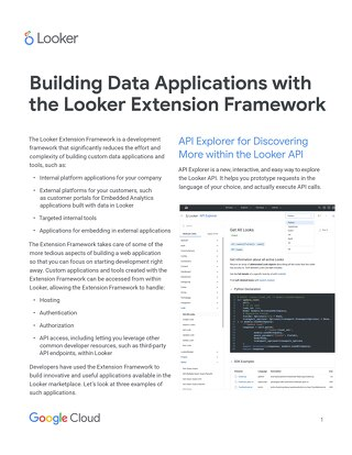 Building Data Applications with the Looker Extension Framework