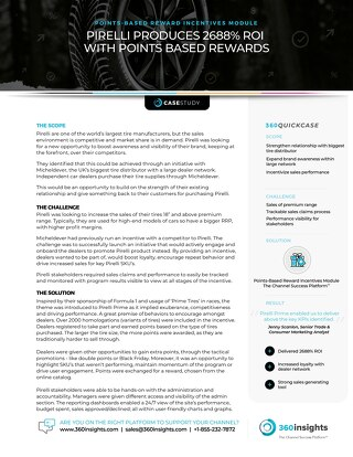 Pirelli - automotive points based reward incentives