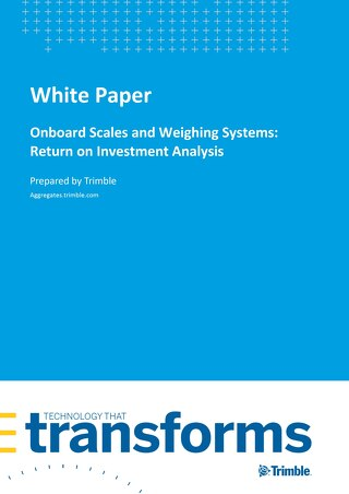 Onboard Scales and Weighing Systems: Return on Investment Analysis