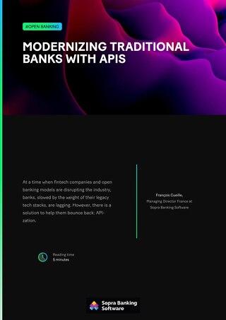 Modernizing traditional banks with APIs
