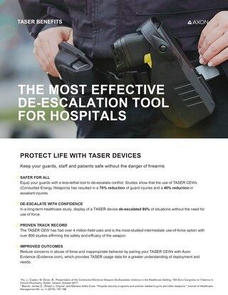 Hospital Security - Taser Benefits
