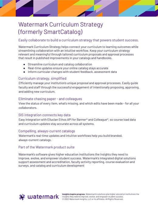 Watermark Curriculum Strategy Flyer