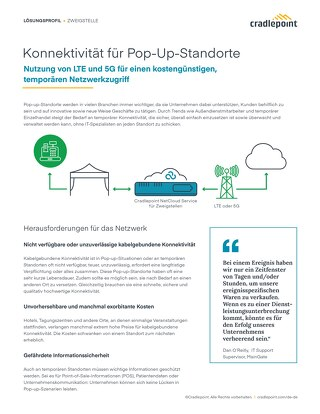 Connectivity for Pop-Up Locations – German