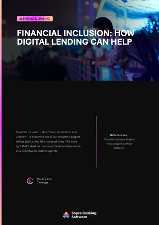 Financial inclusion: How digital lending can help