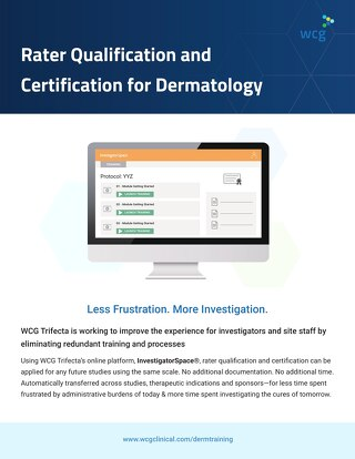 WCG Dermatology Rater Qualification and  Certification