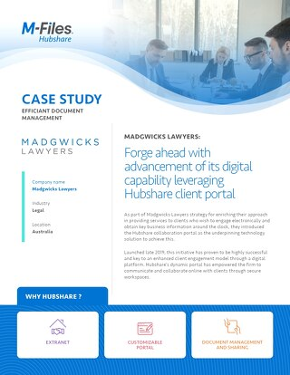 Case Study: Madgwicks Lawyers