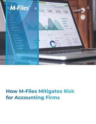 M-Files pienentää taloushallinnon alan toimijoiden riskejä