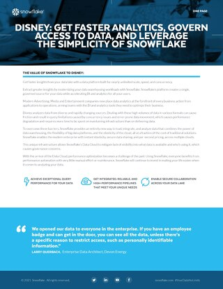 How Snowflake can help Disney get faster analytics