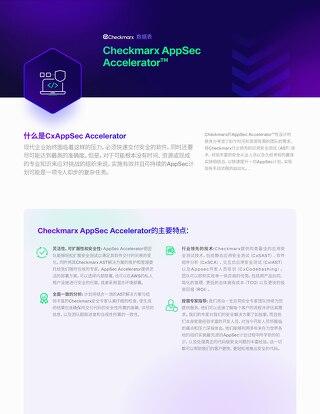 AppSec Accelerator Chinese - Datasheet 2021