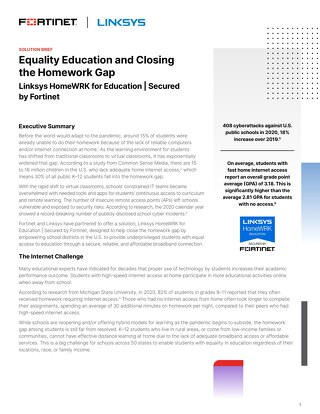 Equality Education and Closing the Homework Gap