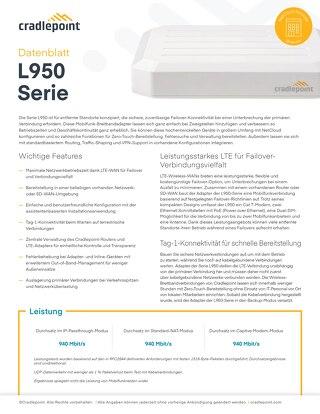 L950 Data Sheet – German
