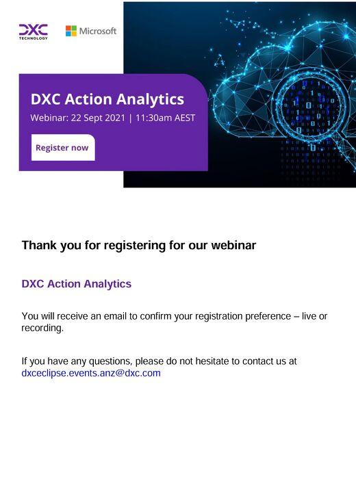 DXC Action Analytics: accelerating Power BI with best practice