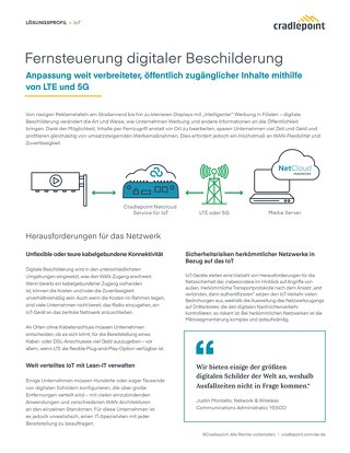 Connecting Remote Control of Digital Signage – German
