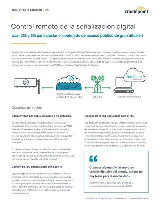 Conectar el Control Remoto de la Señalización Digital