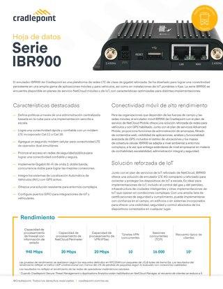 IBR 900 Data Sheet – Spanish (LA)