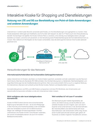 Connecting Kiosks for Shopping and Services – German