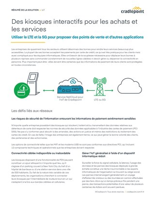 Connecting Kiosks for Shopping and Services – French (EU)