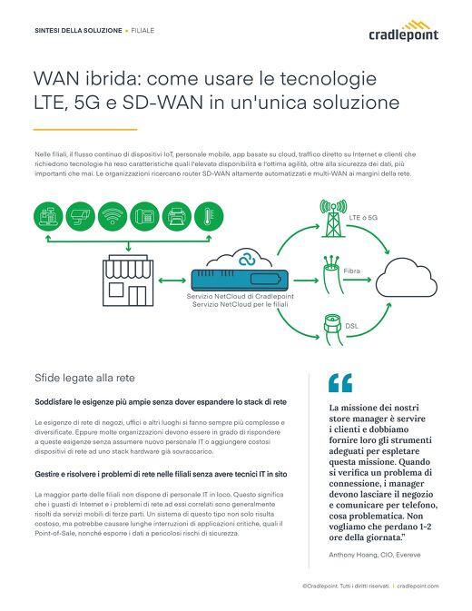 WAN Ibrida: Come usare le Tecnologie LTE, 5G e SD-WAN in un'unica Soluzione