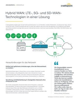 Hybrid WAN: LTE-, 5G- und SD-WAN-Technologien in einer Lösung