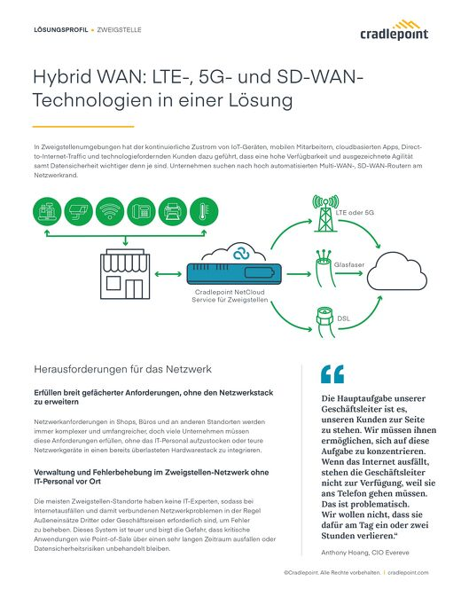 Hybrid WAN: Using LTE, 5G, and SD-WAN Technologies in One Solution – German