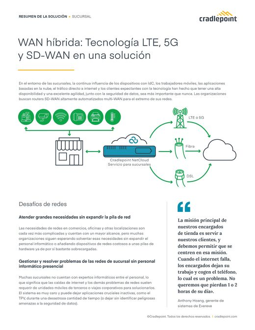 Hybrid WAN: Using LTE, 5G, and SD-WAN Technologies in One Solution – Spanish (EU)