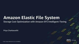 Storage cost optimization with Amazon EFS Intelligent-Tiering