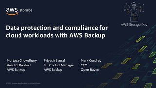 Data protection and compliance for cloud workloads with AWS Backup