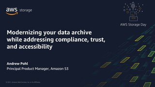 Modernizing your data archive while addressing compliance, trust, and accessibility