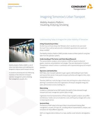 Mobility Analytics Platform: Visualizing, Analyzing, Simulating