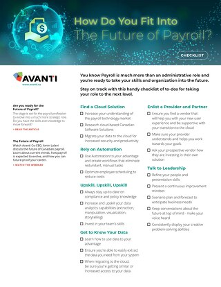 Future of Payroll Checklist