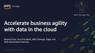 Keynote: Accelerate business agility with data in the cloud