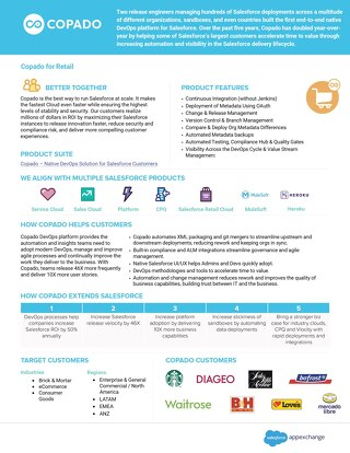 Copado for the Retail Industry Data Sheet