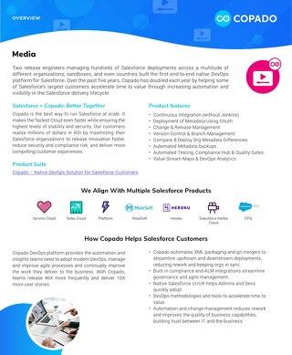 Copado for the Media Industry Data Sheet